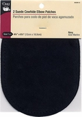 Dritz Suede Cowhide Elbow Patches - navy