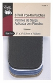 Dritz Twill Iron-On Patches - assorted colors