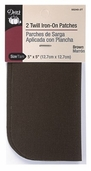Dritz Twill Iron-On Patches - Brown