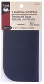 Dritz Twill Iron-On Patches Navy