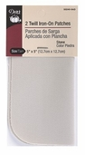 Dritz Twill Iron-On Patches - stone