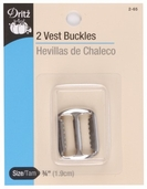 Dritz Vest Buckles - nickel