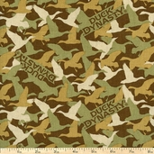 Duck Dynasty Camo Cotton Fabric - Green