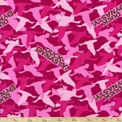 Duck Dynasty Camo Cotton Fabric - Pink
