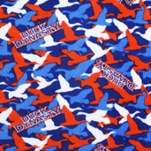 Duck Dynasty Logo Camo Fleece Fabric - Blue