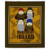Duck Dynasty Panel Cotton Fabric - Brown