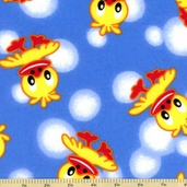 Duck Flannel Cotton Fabric - Dark Blue