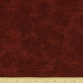 Dusty Trails Cotton Fabric - Dark Red