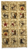Dusty Trails Cotton Fabric - Western Panel - Multi Color GALDUT401-Z