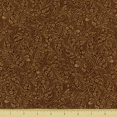 Dusty Trails Floral Cotton Fabric - Brown