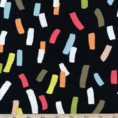 Dwellings Confetti Cotton Fabric - Black