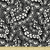 Dylan Cotton Fabric - Foliage - Black