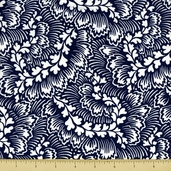 Dylan Cotton Fabric - Foliage - Blue