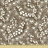 Dylan Cotton Fabric - Foliage - Grey
