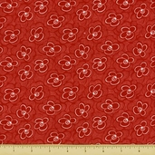 Dynamic Duo Cotton Fabric - Red - CLEARANCE