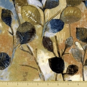 Earthtones Cotton Fabric - Foliage - Earth