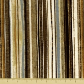 Earthtones Cotton Fabric - Stripe - Earth