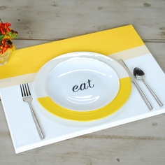 """Eat"" Place Setting"
