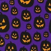Eerie Alley Cotton Fabric - Grape - CLEARANCE