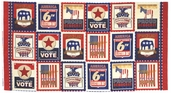 Election Day Cotton Fabric Americana Panel AXC-12799-202