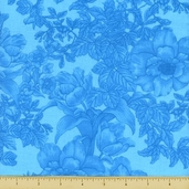 Elegance Cotton Fabric - Aqua