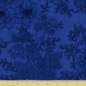 Elegance Cotton Fabric - Royal Blue  - CLEARANCE