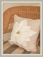 Elegant Poinsettia Pillow
