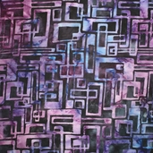 Artisan Batiks Elementals Batik Cotton Fabric - Links - Grape