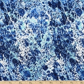 Elements Marbled Texture Cotton Fabric - Blue