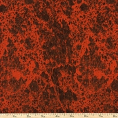 Elements Marbled Texture Cotton Fabric - Red
