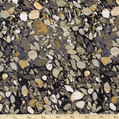 Elements Stone Texture Cotton Fabric - Grey - Clearance