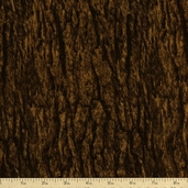 Elements Wood Texture Cotton Fabric - Brown