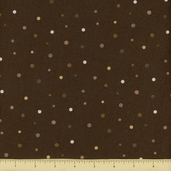 Elizabeth's Studio Cotton Fabric - Dot - Brown