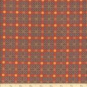 Elizabethtown Lattice Plaid Cotton Fabric - Rust
