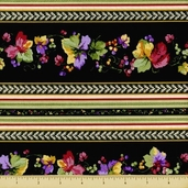 Elm Creek Quilts: Rosa's Collection Cotton Fabric - Border Stripe - Multi
