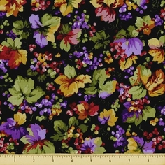 Elm Creek Quilts: Rosa's Collection Cotton Fabric - Vine - Black
