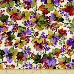 Elm Creek Quilts: Rosa's Collection Cotton Fabric - Vine - Cream