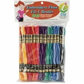 Cotton Embroidery Floss Value Pack - Variegated 36 Piece - Iris