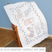 Jack Dempsey Lap Quilt Top - Kitty Cats
