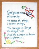 Jack Dempsey 11in. x 14in. Sampler - Serenity Prayer