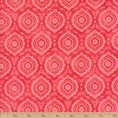 Emma Tonal Ogee Cotton Fabric - Melon
