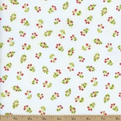 Emma Tossed Berries Cotton Fabric - Ivory