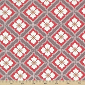 Emperor's Garden Cotton Fabric - Grey