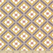 Emperor's Garden Cotton Fabric - Ochre
