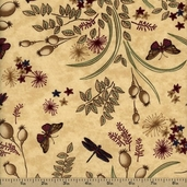 Enchanted Pond Prints - Beige 6501-17