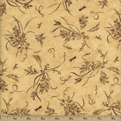 Enchanted Pond Prints Cotton Fabric - Beige 6502-17