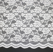 Enchanting Nylon Lace - White