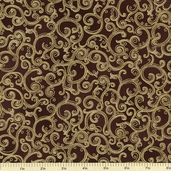 Esmeralda Metallic Cotton Fabric Sable ESKM-13015-178