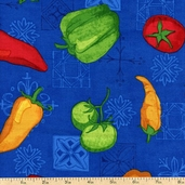 Esperanza Peppers Cotton Fabric - Fiesta ARP-13402-194 FIESTA