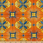 Esperanza Tiles Cotton Fabric - Mango ARP-13403-146 MANGO